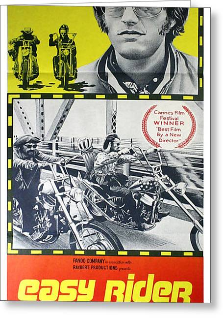 Easy Rider Movie Lobby Poster  1969 Greeting Card by Daniel Hagerman