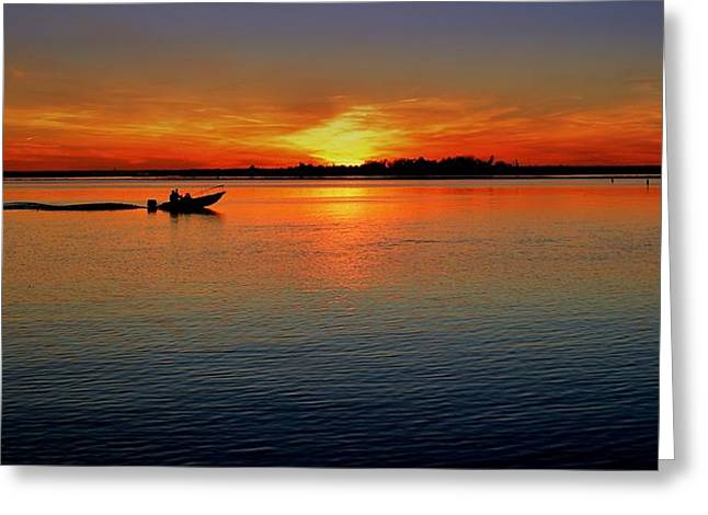 Easy Sunday Sunset Greeting Card by Allen Beilschmidt
