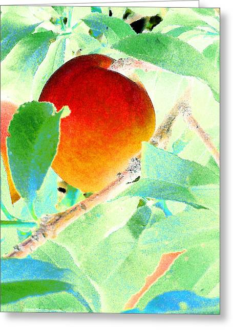 Eat A Peach Greeting Card by Louis Nugent
