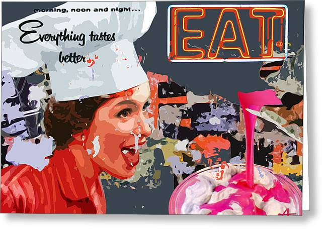 EAT Greeting Card