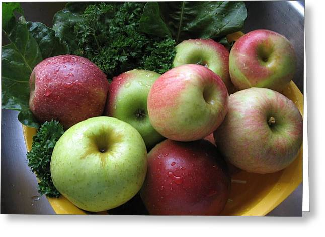 Greeting Card featuring the photograph Eat Healthy Stay Healthy by Deb Martin-Webster