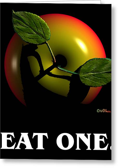 Eat One  Greeting Card