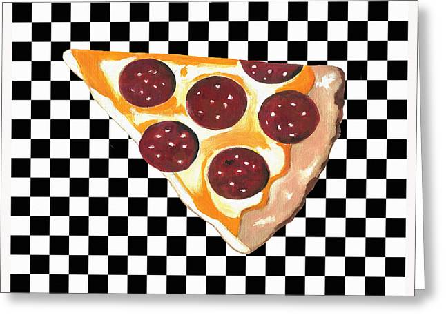 Eat Pizza Greeting Card