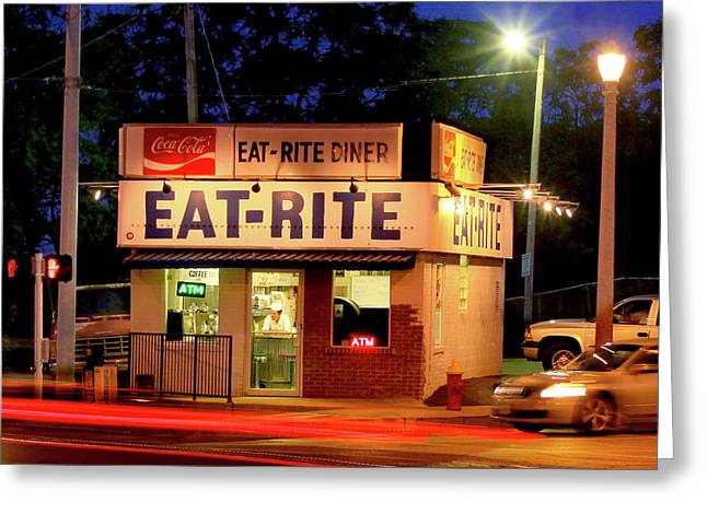 Eat Rite Diner St Louis Greeting Card by Garry McMichael
