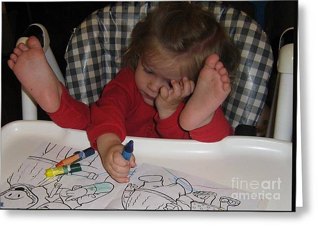 Feet-ure Artist - Baby Picasso Greeting Card