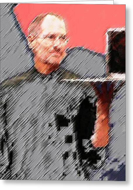 Eaten Apple Of Steve Jobs Greeting Card