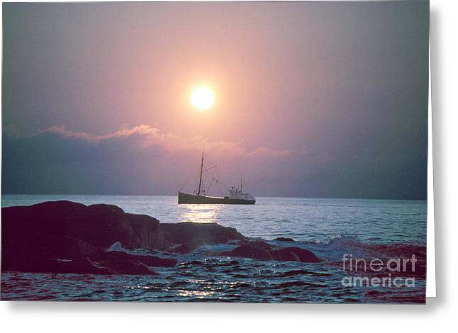 Eastern Rig Greeting Card by Jim Beckwith
