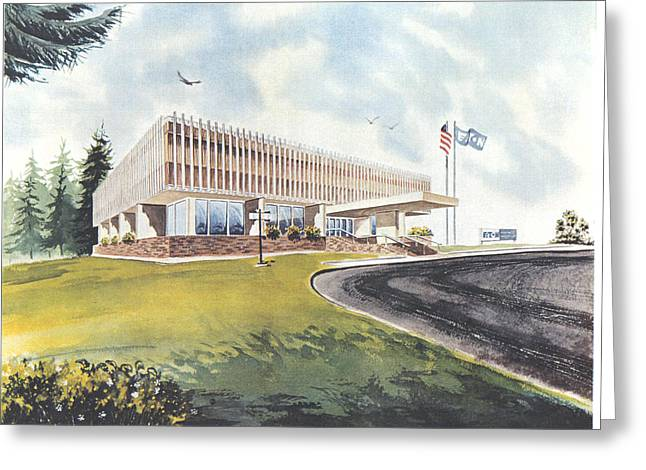 Eaton Corp Administration Building Greeting Card
