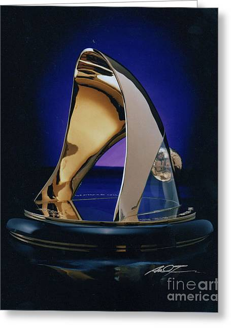 Eaton Quality Award Sculpture  Greeting Card