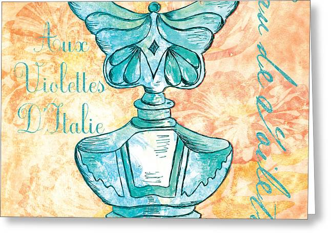 Powder Greeting Cards - Eau de Toilette Greeting Card by Debbie DeWitt