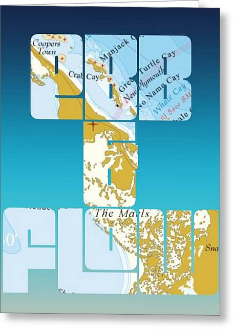 Ebb And Flow Bahamas Greeting Card by Brandi Fitzgerald