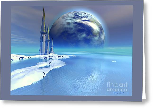Ebb And Flow Greeting Card by Corey Ford