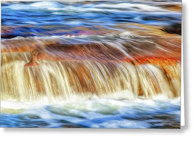 Ebb And Flow, Noble Falls Greeting Card