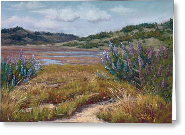 Marin County Pastels Greeting Cards - Ebb Tide Ensemble Greeting Card by Debbie Harding