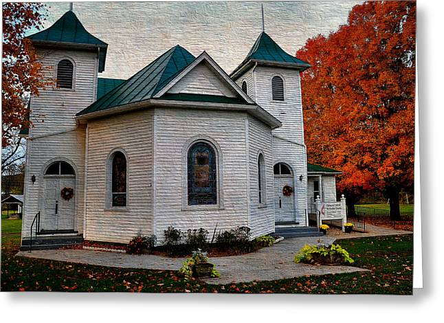 Ebenezer United Methodist Church Greeting Card by Todd Hostetter