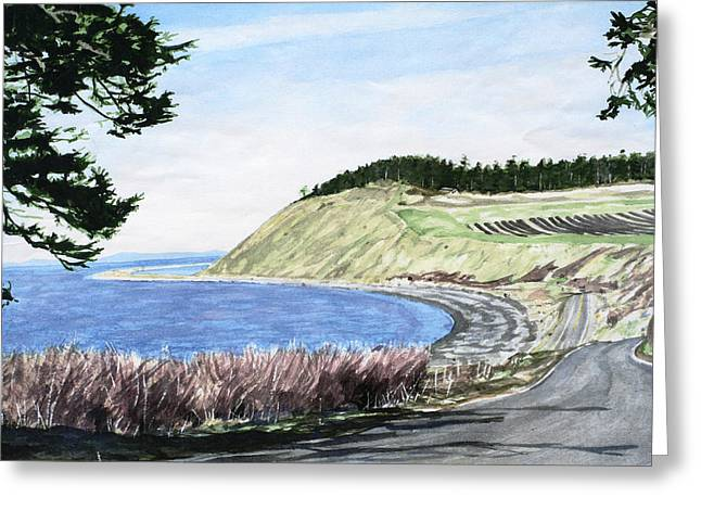 Ebey's Landing Greeting Card by Perry Woodfin