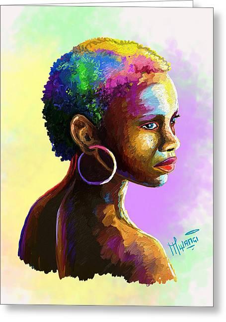 Ebony Greeting Card by Anthony Mwangi