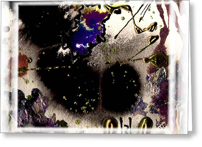 Greeting Card featuring the mixed media Ebony Nights by Angela L Walker