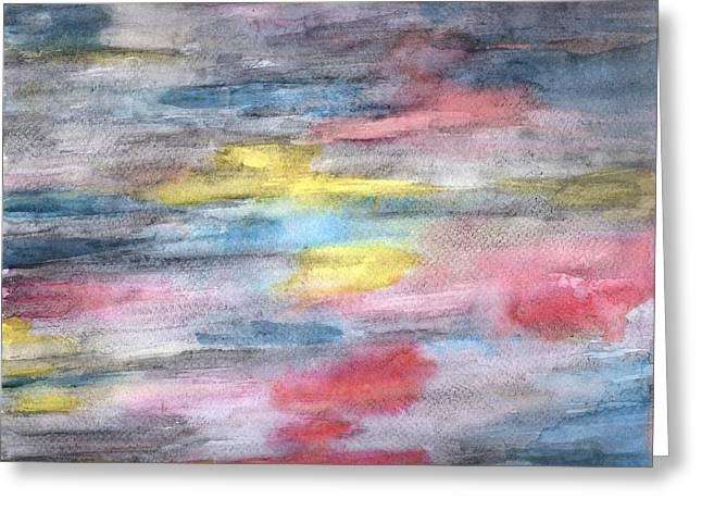Paint Pastels Greeting Cards - Ebony Rainbow Greeting Card by Mary Zimmerman