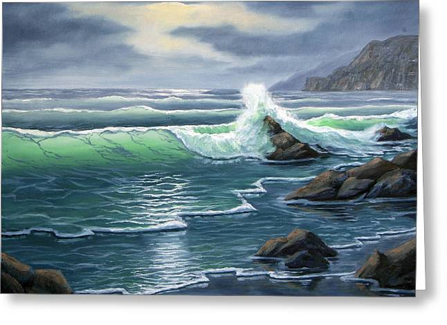 Ebtide Greeting Card by Lorraine Foster