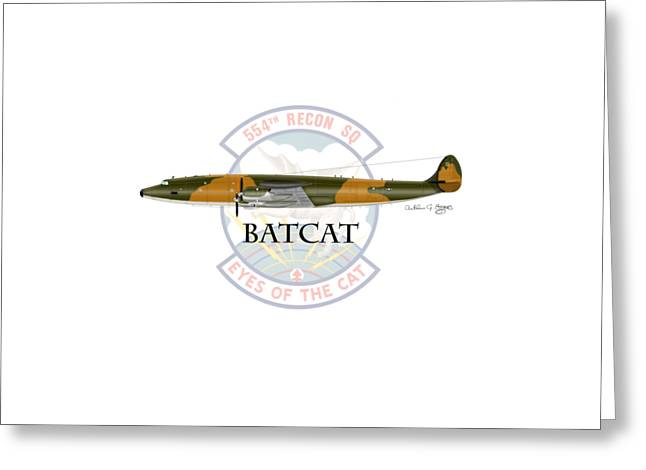 Ec-121r Batcat Greeting Card