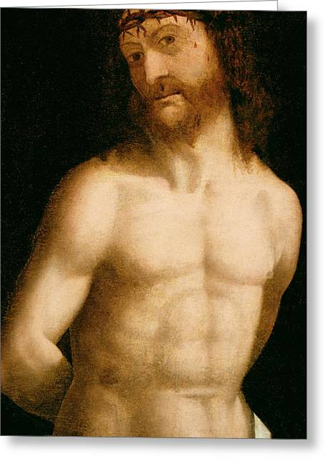 Ecce Homo Greeting Card by Andrea Mantegna