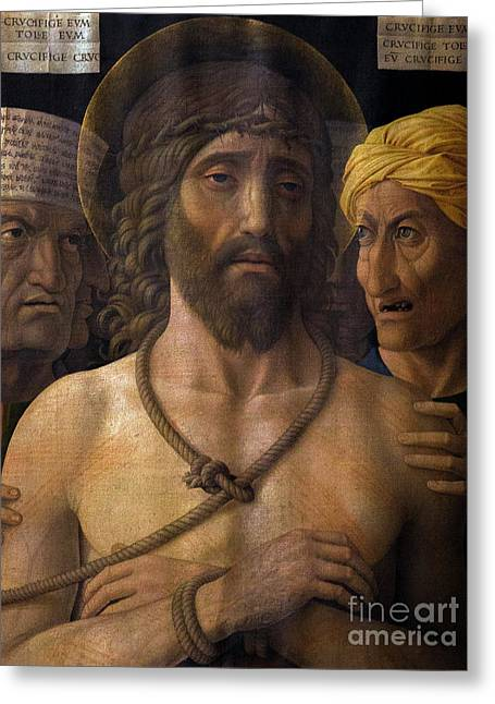 Ecce Homo, By Andrea Mantegna, 1493, Musee Jacquemart-andre, Par Greeting Card by Peter Barritt