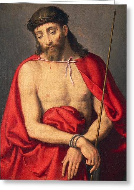 Ecce Homo Greeting Card by Giovanni Battista Moroni