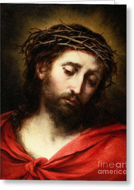 Ecce Homo, Or Suffering Christ Greeting Card by Bartolome Esteban Murillo