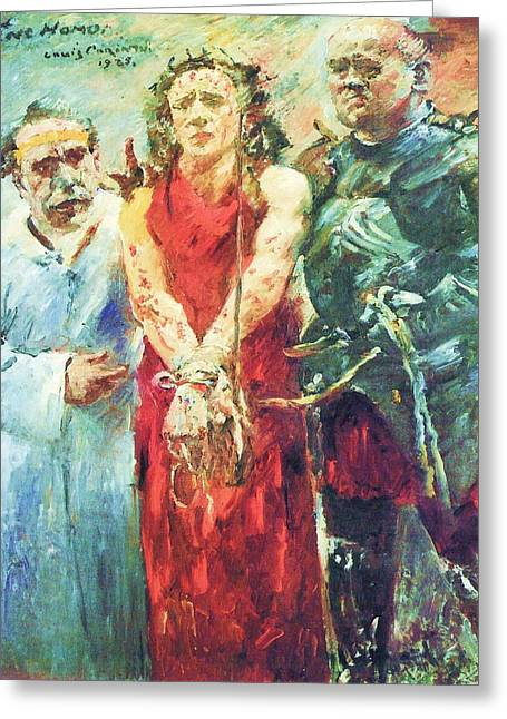 Ecce Homo Greeting Card by Pg Reproductions