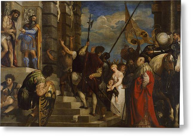 Ecce Homo Greeting Card by Titian