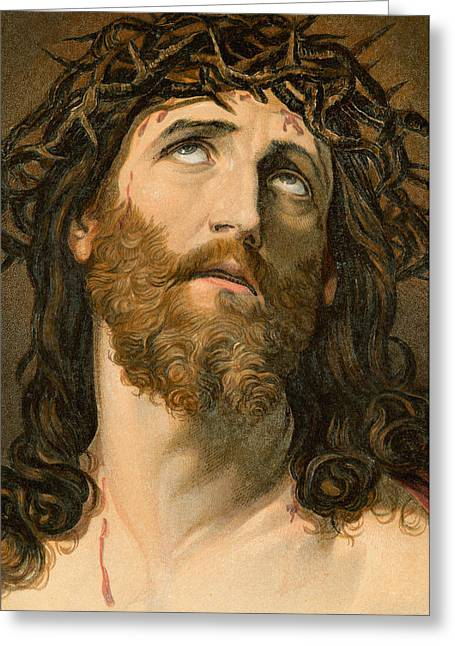 Ecce Homo Greeting Card by William Dickes
