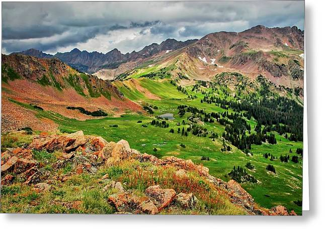 Eccles Pass, Summit County, Colorado Greeting Card