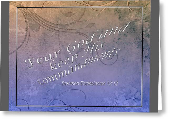 Ecclesiastes 12.13 Bible Verse 002 Greeting Card