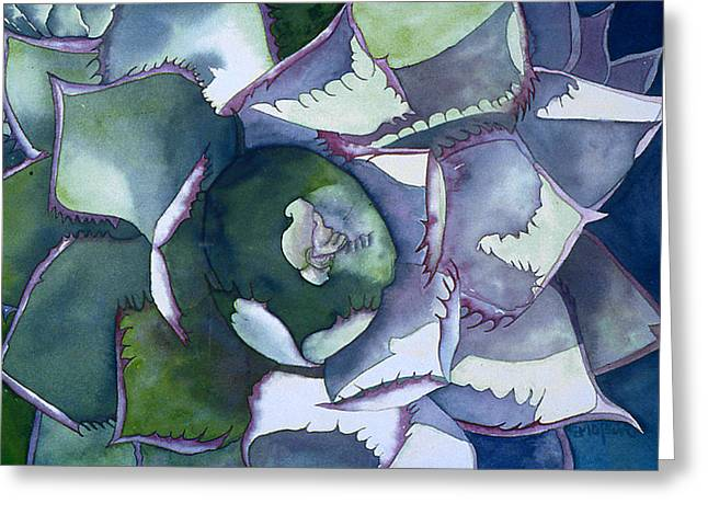 Echeveria Greeting Card by Eunice Olson