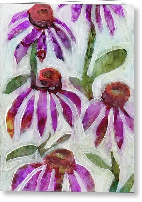 Echinacea Greeting Card by Julie Maas