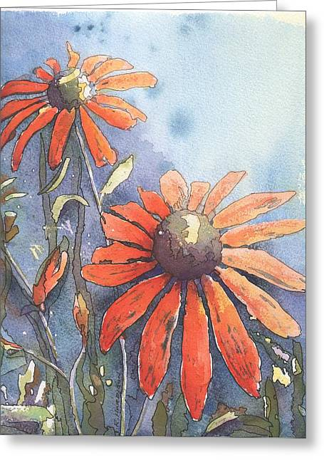 Echinacea Greeting Card by Robynne Hardison