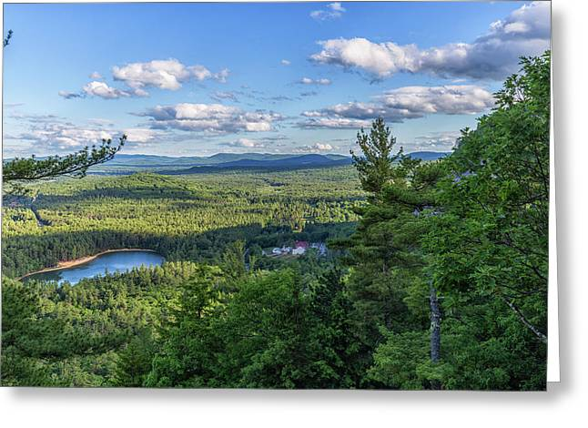 Echo Lake From Cathedral Ledge Greeting Card by Brian MacLean