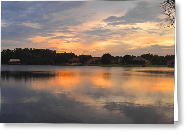 Echo Lake Sunset Greeting Card by Penfield Hondros
