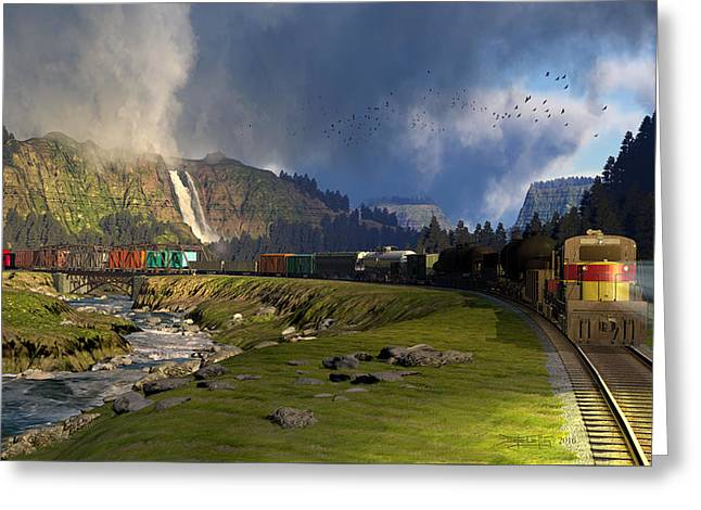 Echoes From The Caboose Greeting Card by Dieter Carlton