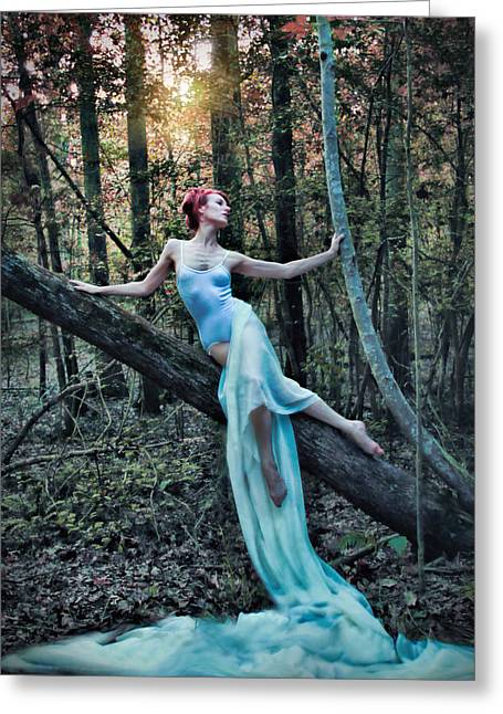 Echoes Of A Dryad Greeting Card by Spokenin RED