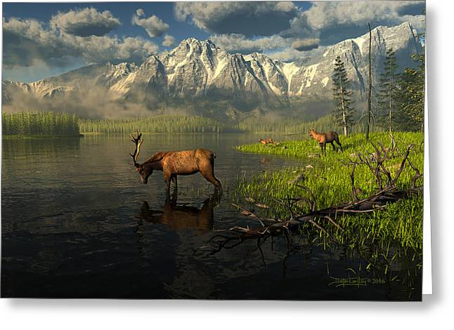 Echoes Of A Lost Frontier Greeting Card by Dieter Carlton