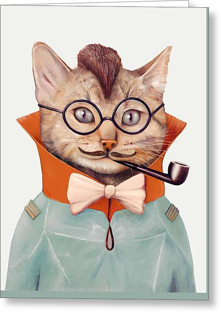 Eclectic Cat Greeting Card by Animal Crew