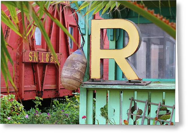 Eclectic Moss Landing Garden Greeting Card by Art Block Collections
