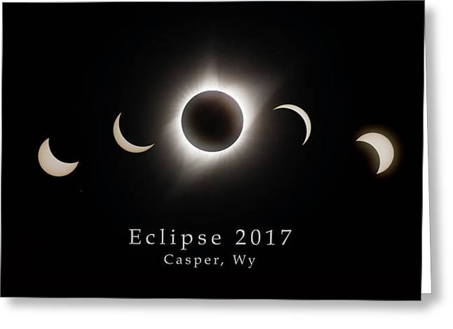 Greeting Card featuring the photograph Solar Eclipse Collage 1 by Rikk Flohr