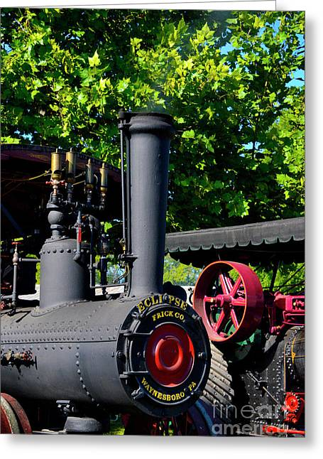 Eclipse Tractor - Front Greeting Card