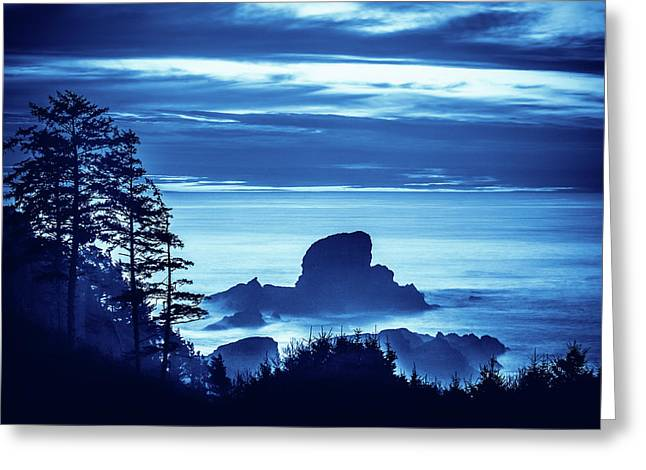 Ecola State Park Beach Scenic Greeting Card by Debi Bishop