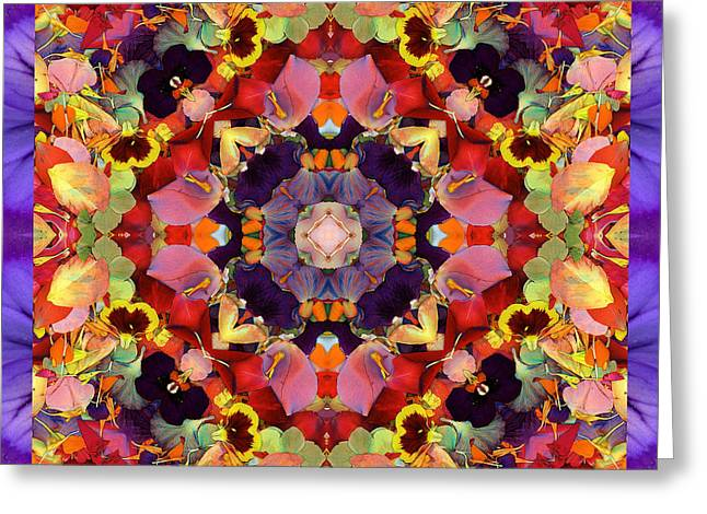 Rose Petal Heart Greeting Cards - Ecstasy Greeting Card by Bell And Todd