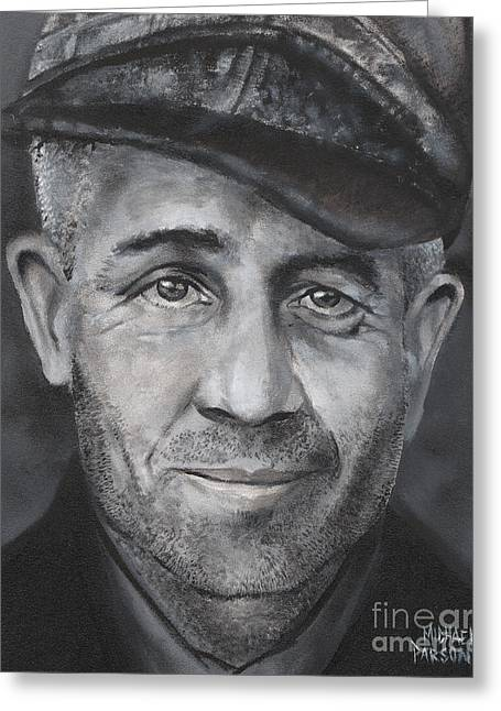 Ed Gein Greeting Card by Michael Parsons