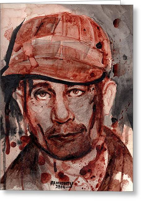 Ed Gein Greeting Card by Ryan Almighty